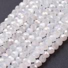 90 facetierte runde Perlen Ø 3mm White Pearl-galvanisiert