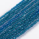 190 facetierte runde Perlen Ø 2mm tr. steel blue