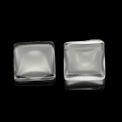 #33 - 1 Stück Glascabochon 30x30 mm crystal