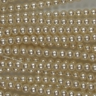 #16 1 Strang - 4,0 mm Glaswachsperlen - cream