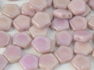 #01.04 - 25 Stück Pego Beads 10 mm - White Red Luster