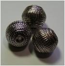 1 Stck. gr. Metall-Look-Perle - Ø ca. 20 mm - altsilberfarben Typ10