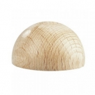 1 Stück Holz-Halbkugel ca. 8 mm