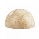 1 Stück Holz-Halbkugel ca. 6 mm