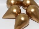 #17.01 - 1  Papiertropfen (Paper Maché) 27x18 mm - Gold