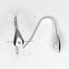 1 Paar Ohrhaken Tropfen - 17 mm - versilbert