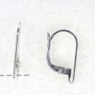 1 Paar Ohrbrisuren - 16 mm - versilbert
