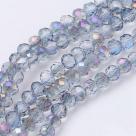 140 facetierte Rondelle 3*4mm crystal/purple-AB-galv