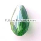 1 facetierter Tropfen 15x10 mm Dk Peridot AB