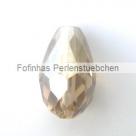 1 facetierter Tropfen 15x10 mm Linen AB