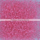#19.00 - 10 g PRECIOSA Terra Rocailles 11/0 2,2 mm - Crystal/Hot Pink-Lined