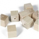6 Stück Holzwürfel 12x12 mm gebohrt