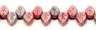 #03 - 25 Stück Blättchen  10x6 mm opak red/amethyst hematite-coating