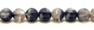 25 Stück Perlen Melone - Ø 6mm Opaque Navy Blue/Black Diamond