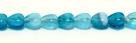 10 Glas-Herzen - 6 mm tr. aqua/sapphire