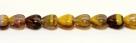 10 Glas-Herzen - 6 mm tr. amethyst/yellow