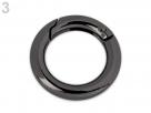1 Ring-Verschluss Ø 18 mm - gunmetall-farben