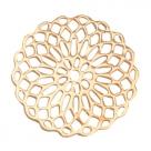 #28.01 1 Stück Bohemian Zwischenstück rund 15mm Gold-Farben