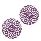 #28.03 1 Stück Bohemian Zwischenstück rund 15mm Purple-Farben