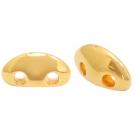 1 Stck. 2-Hole Metallperle ca. 8x4mm (Ø1mm) gold-farben, vergleichbar mit MobyDuo