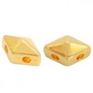 1 Stck. 2-Hole Metallperle ca. 8x5mm (Ø1mm) gold-farben, vergleichbar mit DiamondDuo