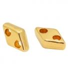 1 Stck. 2-Hole Metallperle ca. 7x4mm (Ø1mm) gold-farben, vergleichbar mit CzMates Diamond Beads