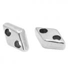 1 Stck. 2-Hole Metallperle ca. 7x4mm (Ø1mm) antiksilber-farben, vergleichbar mit CzMates Diamond Beads