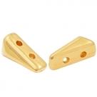 1 Stck. 2-Hole Metallperle ca. 9x5mm (Ø1mm) gold-farben, vergleichbar mit Vexolo Bead