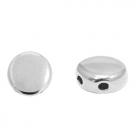 1 Stck. 2-Hole Metallperle ca. 6mm (Ø1mm) antiksilber-farben, vergleichbar mit DiscDuo Bead