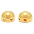 1 Stck. 2-Hole Metallperle ca. 6mm (Ø1mm) gold-farben, vergleichbar mit 2-Hole Cabochon Bead