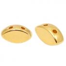 1 Stck. 2-Hole Metallperle ca. 8x4mm (Ø1mm) gold-farben, vergleichbar mit IrisDuo Bead