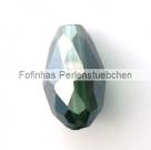 50 facetierter Tropfen 15x10 mm Dk Green AB