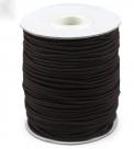 0,5 m Gummiband Stärke 2,5 mm - black