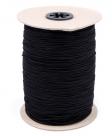 0,5 m Gummiband Stärke 1,5 mm - black