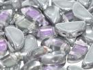 20 Stück Semi Circle Bead 5x10mm - Crystal Vitrail Lt