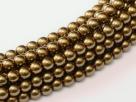 02010/10270 - 1 Strang Perlen Ø 2 mm rund - brass pearl-coating