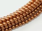 02010/10271 - 1 Strang Perlen Ø 2 mm rund - copper pearl-coating