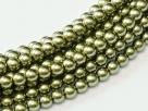 02010/10272 - 1 Strang Perlen Ø 2 mm rund - lt green pearl-coating