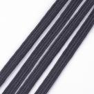 0,5 m Gummiband flach - black (Breite: 6mm)
