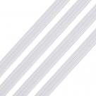 0,5 m Gummiband flach - white (Breite: 3mm)