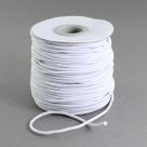0,5 m Gummiband Stärke 2,0 mm - white