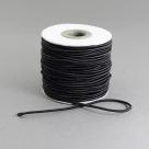 0,5 m Gummiband Stärke 1,5 mm - schwarz
