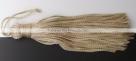 1 Stück Textil-Quaste (ca. 7,0cm) - mit Schlaufe - ecru