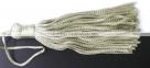 1 Stück Textil-Quaste (ca. 7,0cm) - mit Schlaufe - olivine