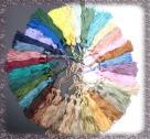 1 Stück Textil-Quaste (ca. 7,0cm) - mit Schlaufe - dk brown