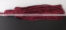 1 Stück Textil-Quaste (ca. 7,0cm) - mit Schlaufe - bordeaux