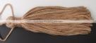 1 Stück Textil-Quaste (ca. 7,0cm) - mit Schlaufe - lt brown