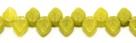 #12 - 25 Stück Blättchen  10x6 mm opak olivine