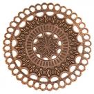 #27a 5 Stück Metall Mandala Ø ± 65 mm kupferfarben