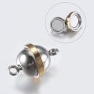 1 Edelstahl-Kugel-Magnet-Verschluss Ø 11x17.5~18 mm - bicolor